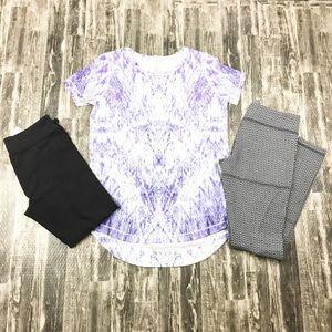 Lot Of 3 Ivivva Pants Capris Shirt Girls Size 14